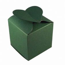 Dark Green Heart Top Designer Favour Boxes
